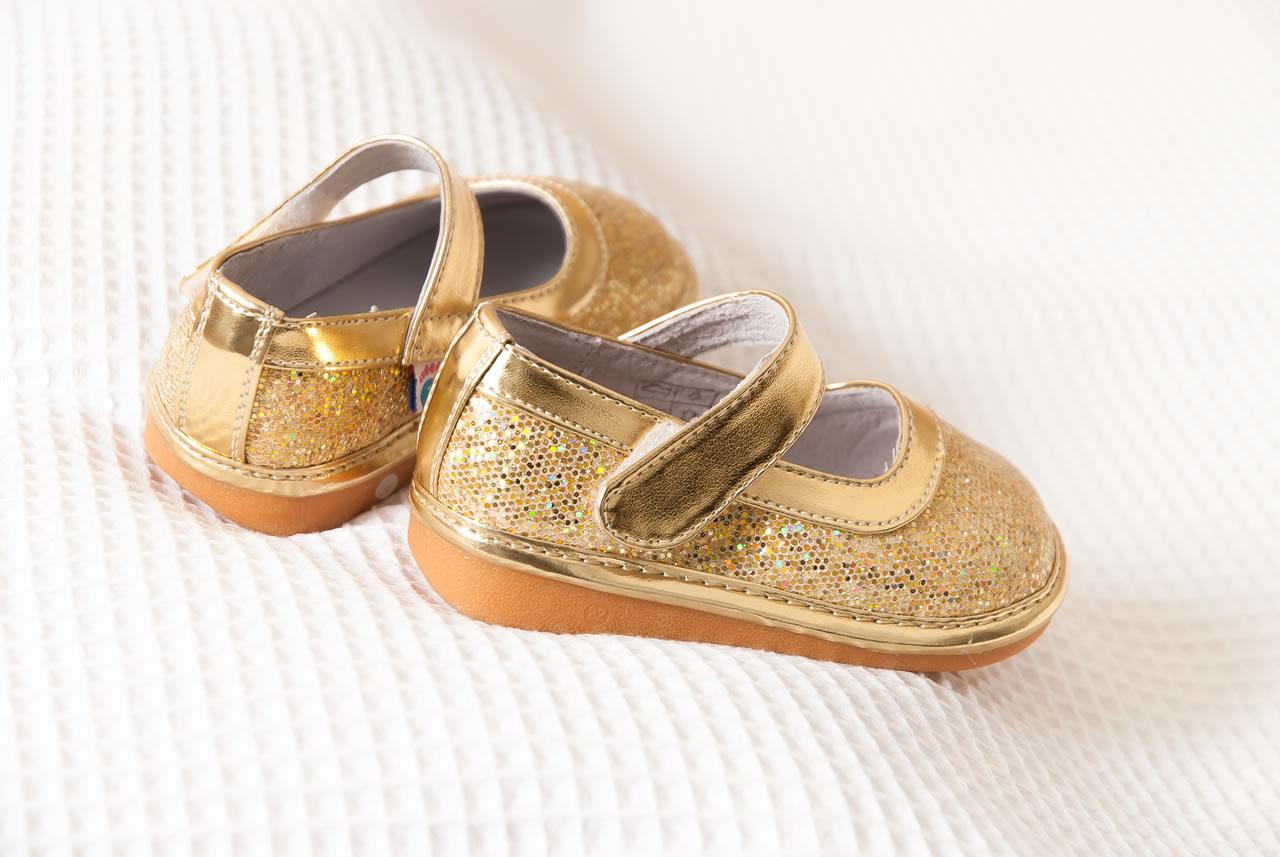 Gouden nl Voor Freycoo Meisjes Met Ingelegde Babyschoen Glitters K5TJc13ulF